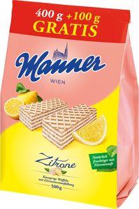 Manner Waffel Zitrone 500g