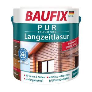 BAUFIX PUR Langzeitlasur, nussbaum, 2,5 L