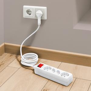 Powertec Electric 4-fach Steckdosenleiste