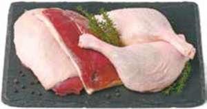 Frisches Entenbrustfilet mit Haut oder Frische Entenschenkel