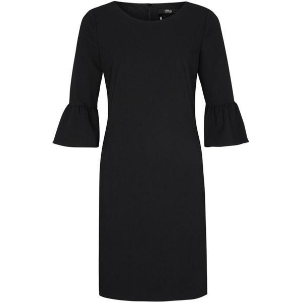 S.Oliver Black Label Damen Kleid Mit Volantärmeln Von Ansehen