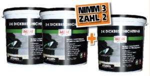 MEM 2-K Dickbeschichtung - 3 für 2 Aktion ,  dunkelbraun, 3x30 kg
