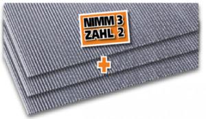 guttagliss dual Hohlkammerplatten - 3 für 2 Aktion ,  klar, 1500x700 x 4,5 mm 3x