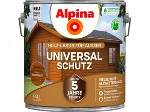Alpina Universalschutz Holzlasur ,  4 l, nussbaum