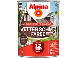 Alpina Wetterschutzfarbe ,  2,5 l, schokobraun