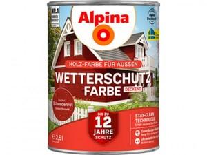 Alpina Wetterschutzfarbe ,  2,5 l, schwedenrot