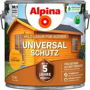 Alpina Universalschutz Holzlasur ,  4 l, eiche hell
