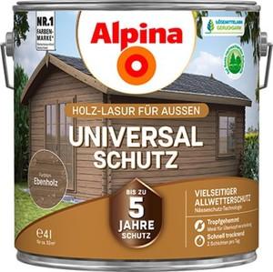 Alpina Universalschutz Holzlasur ,  4 l, ebenholz