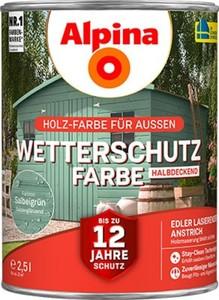 Alpina Wetterschutzfarbe ,  2,5 l, salbeigrün