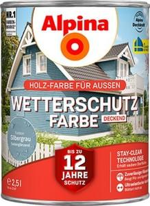 Alpina Wetterschutzfarbe ,  2,5 l, silbergrau