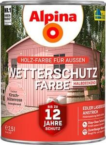 Alpina Wetterschutzfarbe ,  2,5 l kirschblütenrosa