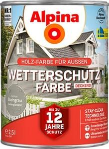 Alpina Wetterschutzfarbe ,  2,5 l, steingrau