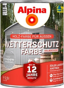 Alpina Wetterschutzfarbe ,  2,5 l, vintagegrau