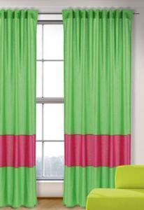 Vorhang Uni, grün-magenta, 245x135, (1 Schal) Gr. 245 x 135
