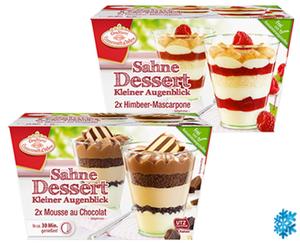 """Conditorei Coppenrath & Wiese 2 Sahne-Desserts """"Kleiner Augenblick"""""""