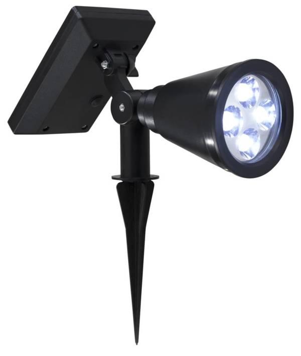LED Strahler mit Solarpanel mit warmweißen LED FHS