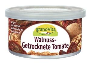granoVita  Veganer Brotaufstrich Walnuss-getrocknete Tomate 125 g