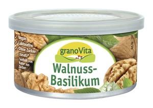 granoVita  Veganer Brotaufstrich Walnuss-Basilikum 125 g