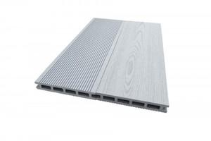 TrendLine Terrassendiele WPC ,  3000 x 145 x21 mm, grau, Hohlkammerprofil
