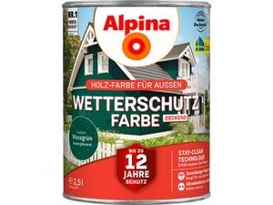 Alpina Wetterschutzfarbe ,  2,5 l, moosgrün