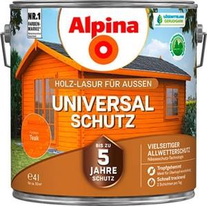 Alpina Universalschutz Holzlasur ,  4 l, teak