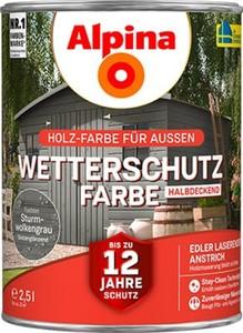 Alpina Wetterschutzfarbe ,  2,5 l sturmvogelgrau