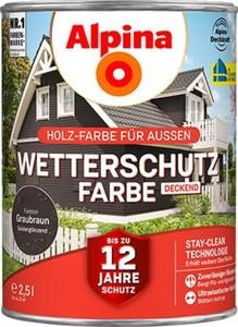 Alpina Wetterschutzfarbe ,  2,5 l, graubraun