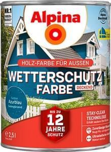 Alpina Wetterschutzfarbe ,  2,5 l, azurblau