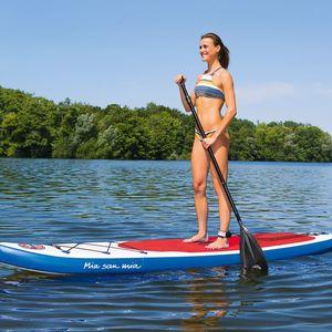 FCB Stand-Up Paddle-Board Mia san Mia 320cm blau/weiß/rot mit Logo