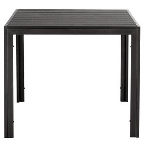 Gartentisch TREVISO 90 cm Nonwood schwarz