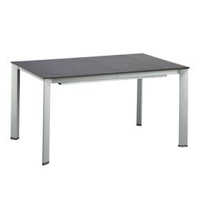 KETTLER ausziehbarer Gartentisch 160(220) x 94 HKS Alu /Schieferoptik Dunkelgrau