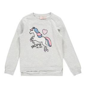 manguun kids             Sweatshirt, verlängerter Rücken, Pailletten, für Mädchen