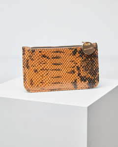 Leder-Portemonnaie mit Schlangenprint