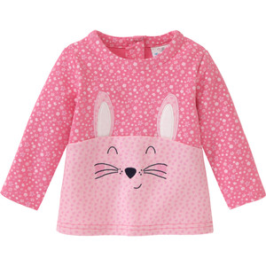 Baby Sweatshirt mit Tiergesicht-Motiv
