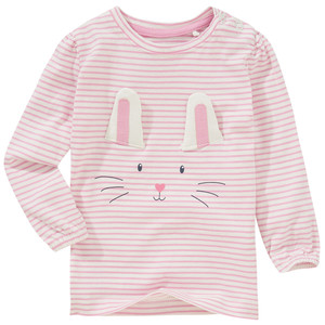 Baby Langarmshirt mit Hasen-Print