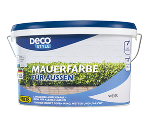 DECO STYLE®  Mauerfarbe weiß, 5 l