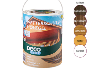 DECO STYLE®  Wetterschutz-Holzgel, 5 l