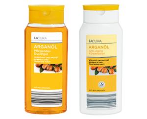 LACURA Arganöl Pflegendes Duschgel oder Anti-Aging Körperlotion