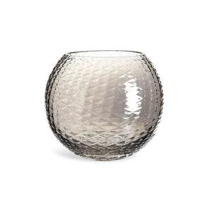 Windlicht Bowl, D:19cm, silbergrau