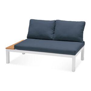 Loungeelement 2-Sitzer mit Kissen, 140x76x73cm, blau