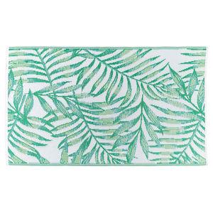 Outdoorteppich Palmblätter, L:150cm x B:90cm, blaugrün