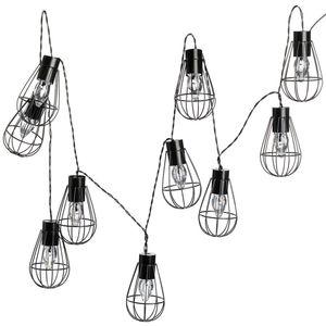 Solarlichterkette, 10 LED, L:200cm, schwarz