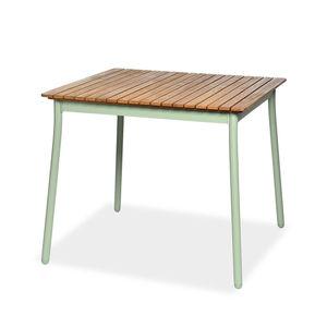 Esstisch, Eukalyptusholz, FSC® 100%, L:90cm x H:77cm, mintgrün
