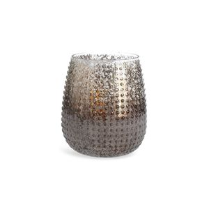 Windlicht Glas, D:12cm x H:14cm, champagne