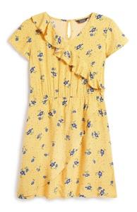Gelbes Kleid mit Blumen (Teeny Girls)