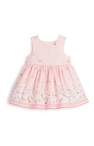 Rosa Kleid mit Blumen für Babys (M)