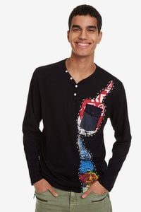 Shirt mit Denim-Tasche Arthur