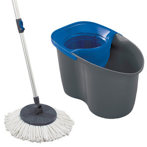 Leifheit Rotation Disc Mop Color Edition, blau