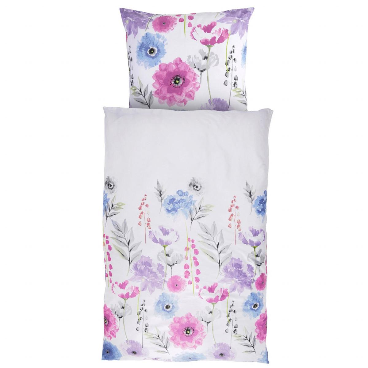 Bild 1 von Home Ideas Living Satin-Bettwäsche, Blume
