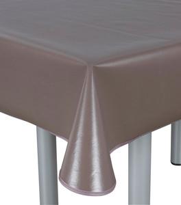 Home Ideas paspelierte Tischdecke oval, 130 x 160 cm, braun